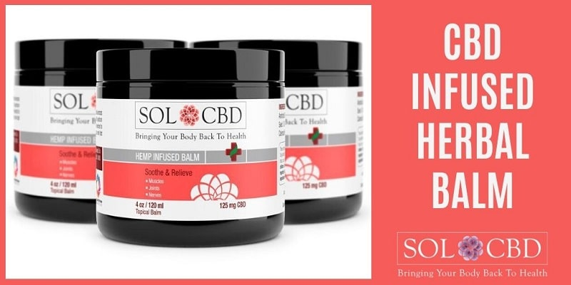 CBD-infused herbal balm from SOL CBD can help with muscle soreness.