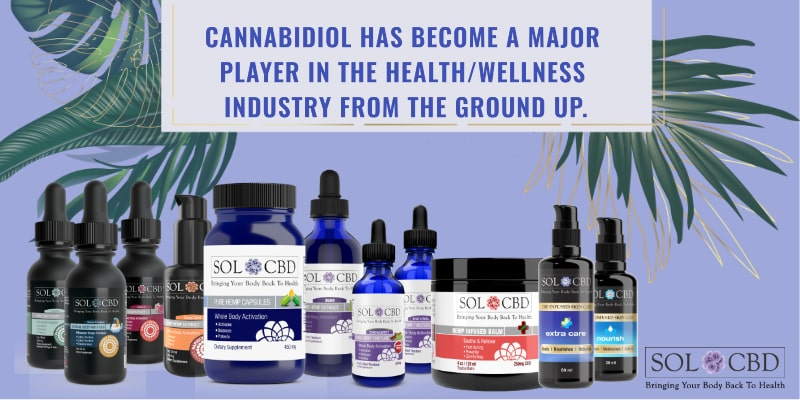 CBD has become a major player in the health/wellness industry from the ground up.