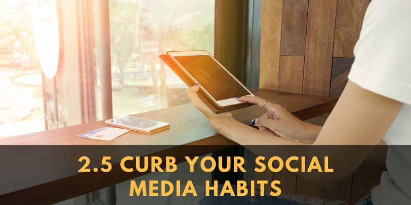 Add social media to your schedule. That way, it probably won't gobble up your life.