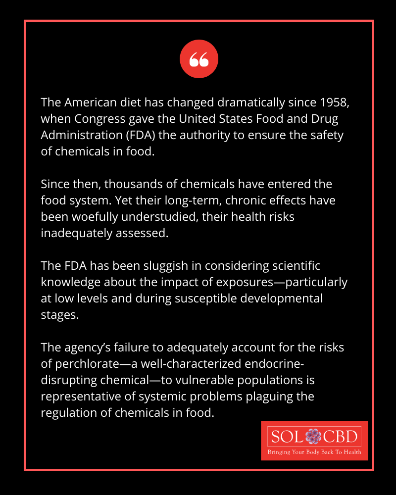 The FDA has allowed some of the proven carcinogenic and other troublesome food additives into our food.