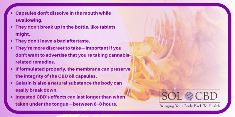 The advantages of CBD capsules