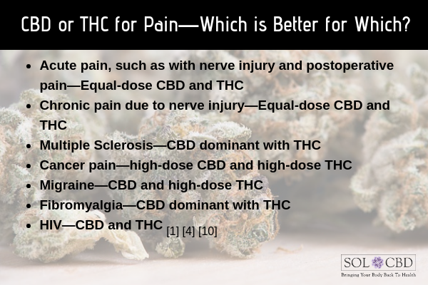 CBD or THC for Pain—Which is Better for Which?