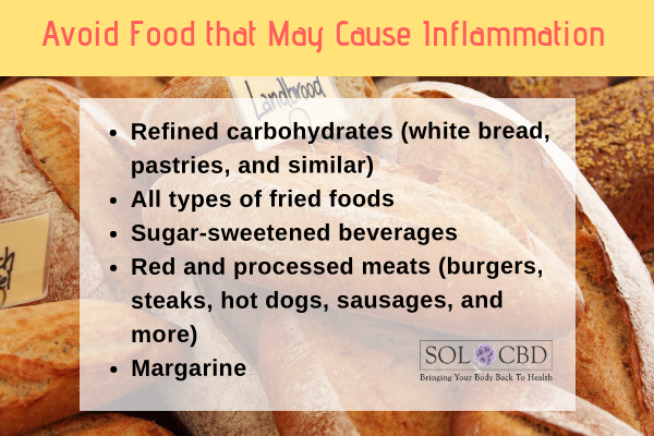 Avoid Food that May Cause Inflammation