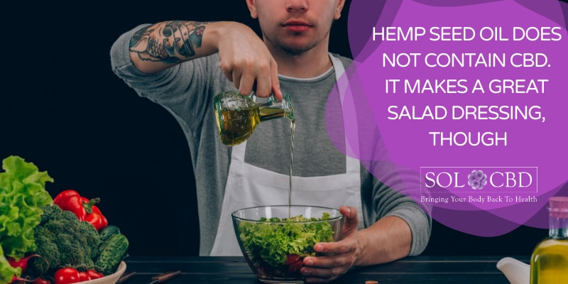 Don't be tricked by hemp seed oil products: they contain no CBD.