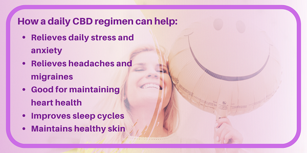 How a daily CBD regimen can help