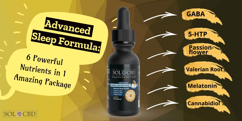 Advanced Sleep Formula with CBD: 6 Powerful Nutrients in 1 Amazing Package