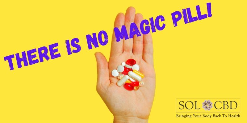 No Magic Pill! Consider supplementing anxiety treatment with CBD tinctures, capsules, or liposomal products.