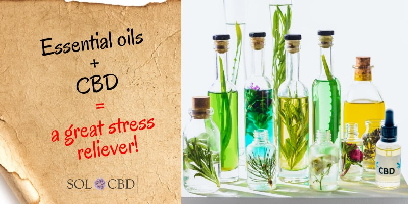 Essential oils + CBD are a great stress reliever.