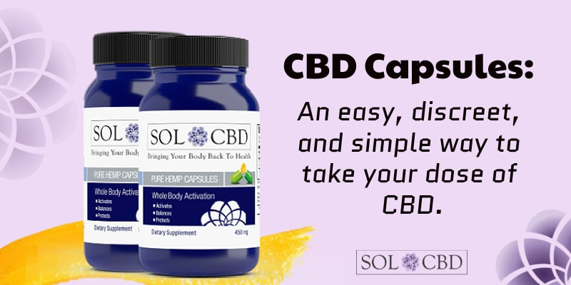 CBD Capsules: An easy, discreet, and simple way to take your dose of CBD.