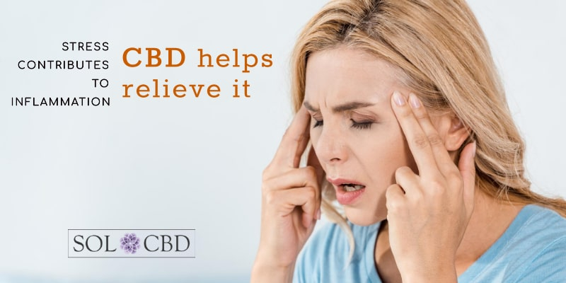 Stress contributes to inflammation. CBD helps relieve it.