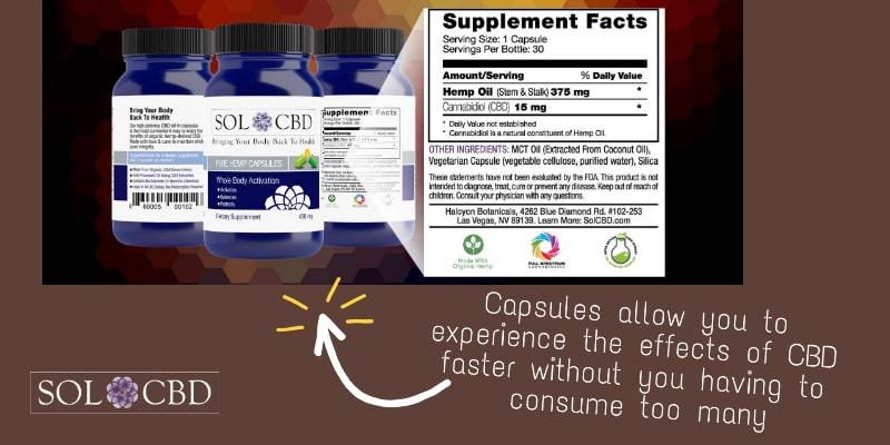 Capsules allow you to experience the effects of CBD faster without you having to consume too many.