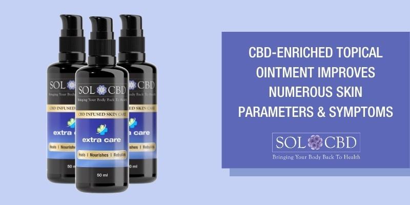 A CBD-enriched topical ointment improves numerous skin parameters and symptoms.