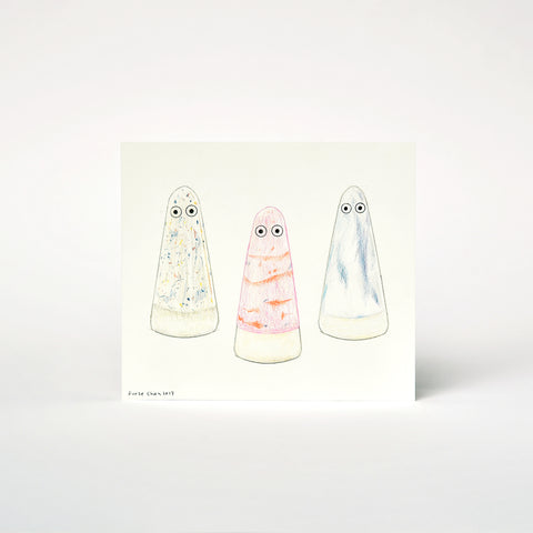OBJECT DRAWING BY FURZE CHAN: GHOSTS IN THE WOODS
