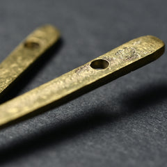 Color of abundance #4: Small flat spoon made of brass