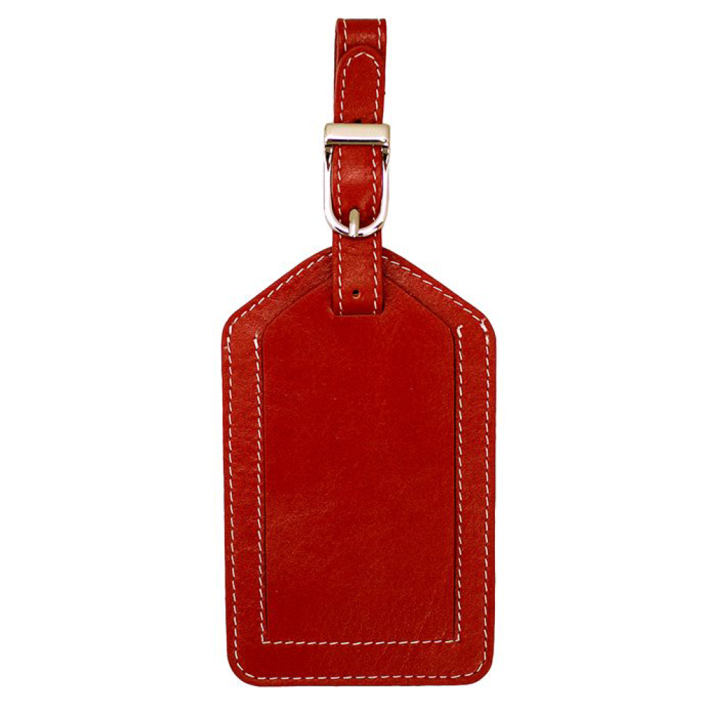 Foil-Stamped Leather Luggage Tags