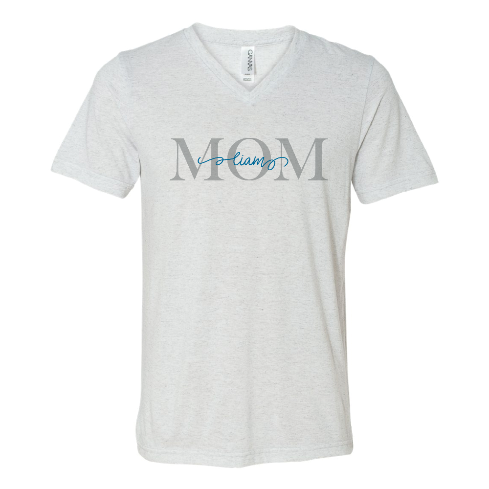 Personalized Mom V-Neck Tee