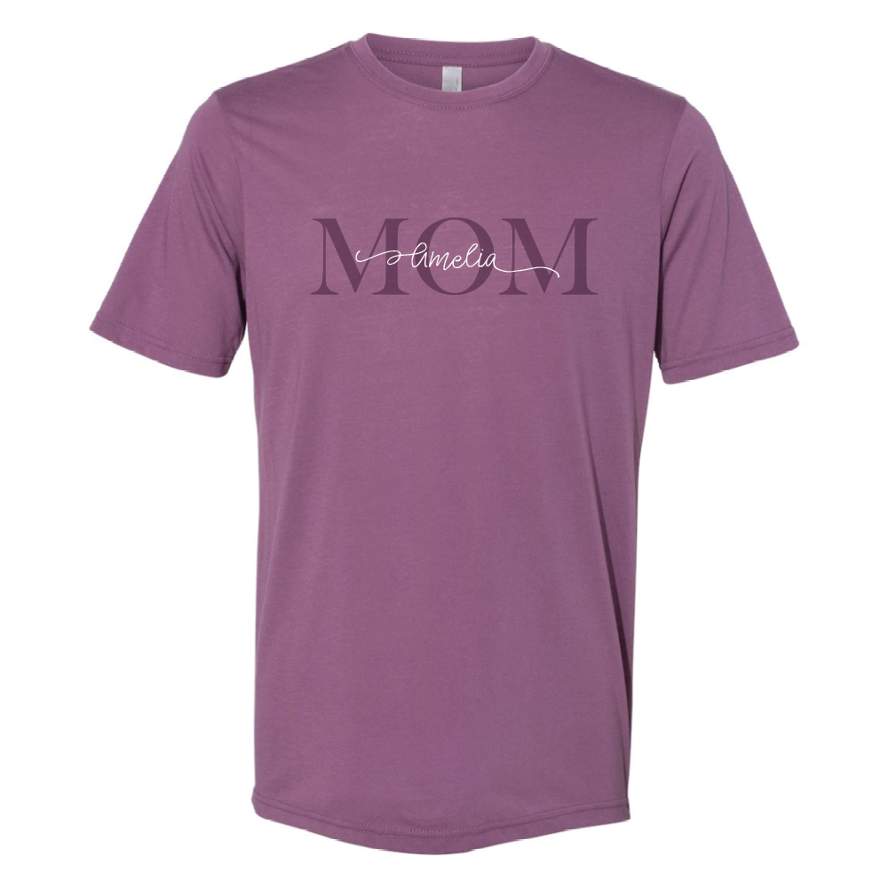 Personalized Mom Crew-Neck Tee