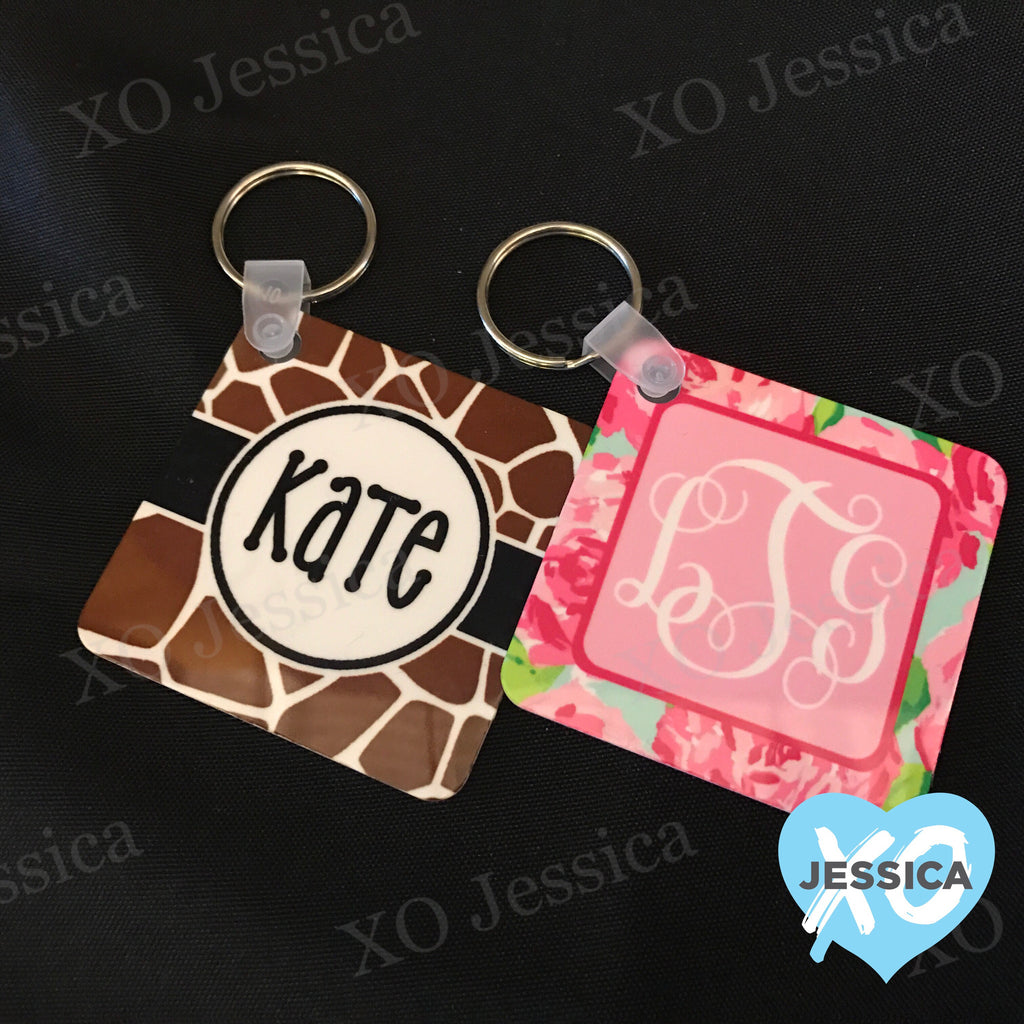 Personalized Square Key Chain
