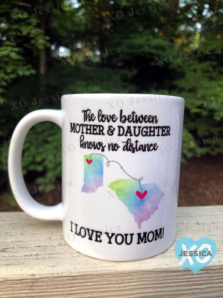 Love between...watercolor mug
