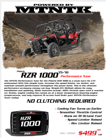 '15-Current RZR 900 Trail|XC|S Performance Tune