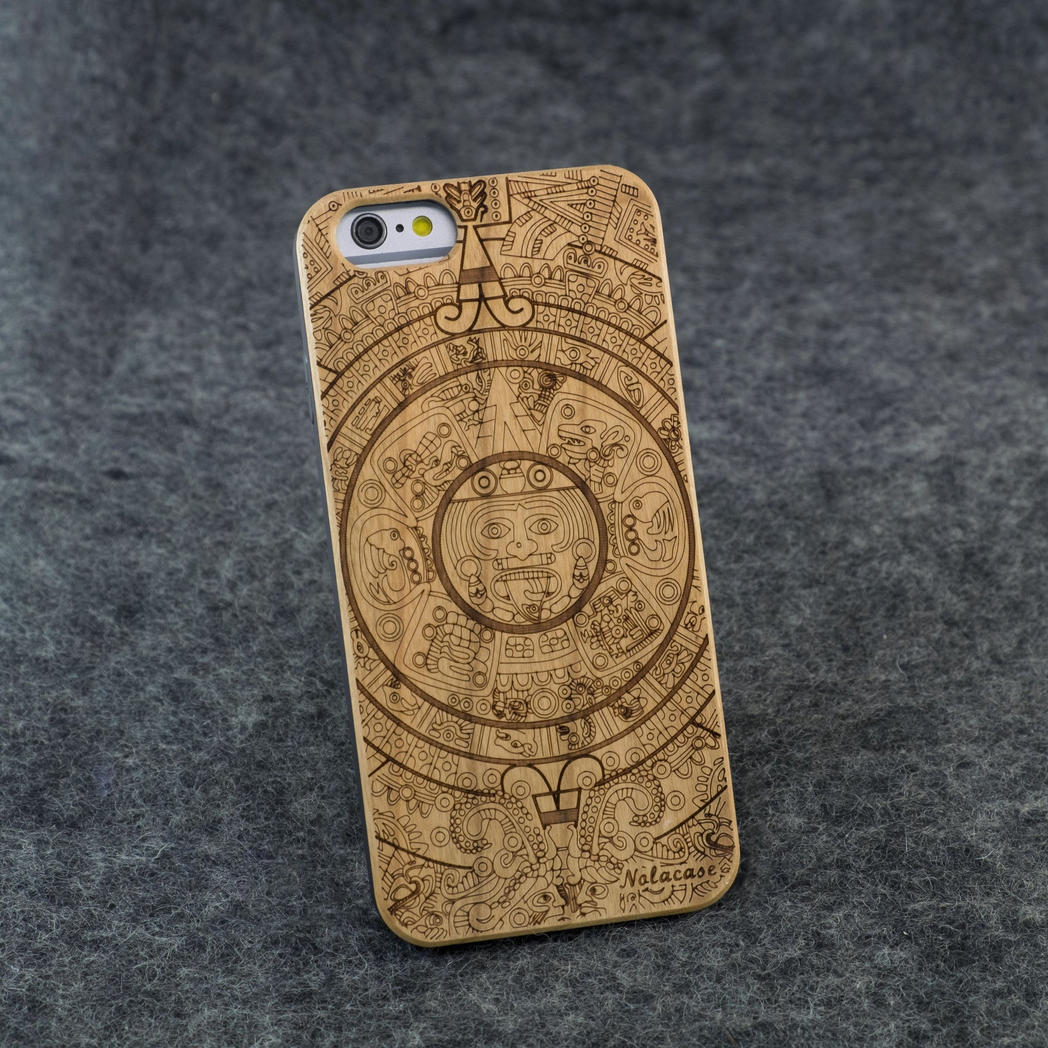 iPhone 6 / 6S Mayan / Aztec Calendar Slim Wood Case - NOLACASE