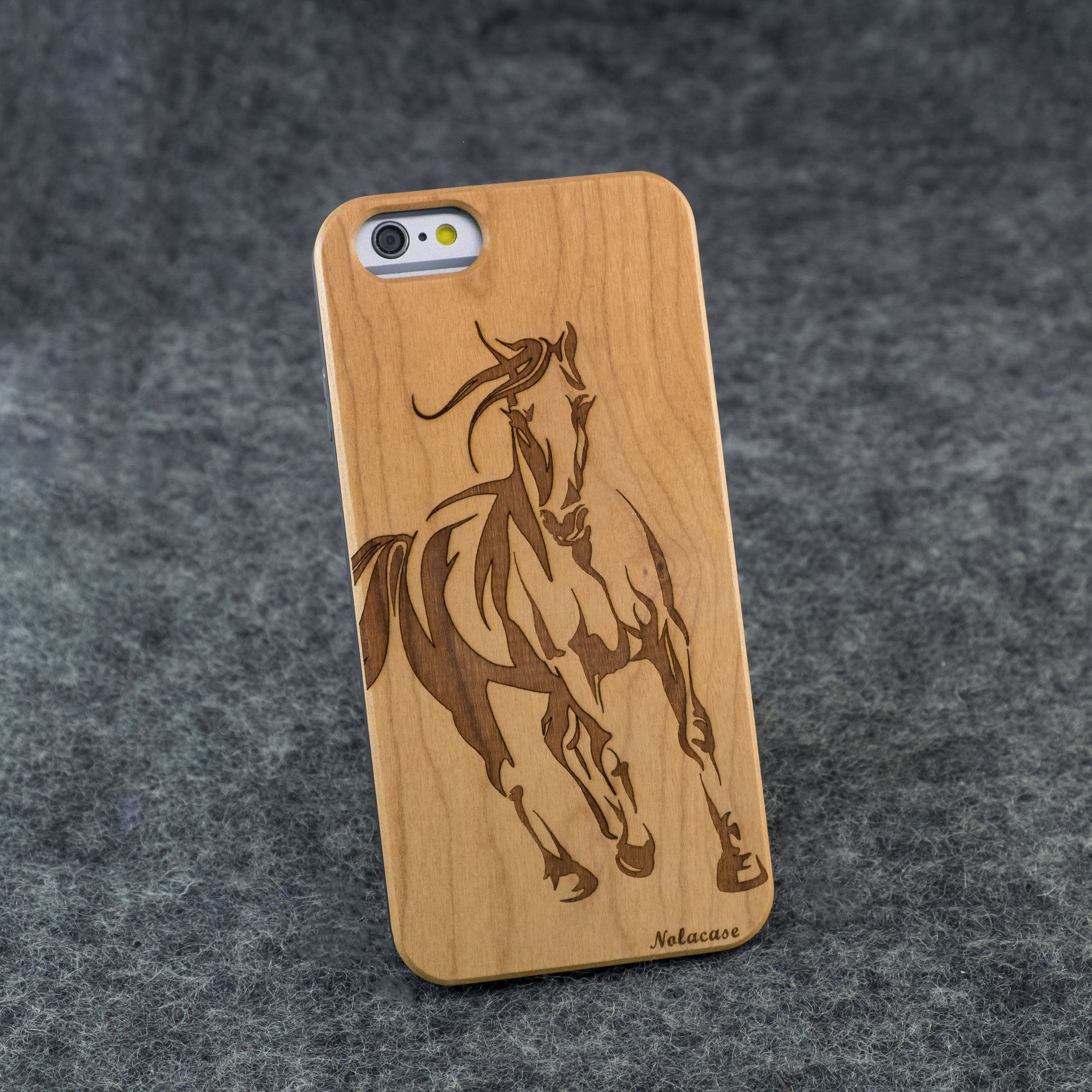 iPhone 6 / 6S Horse Slim Wood Case - NOLACASE