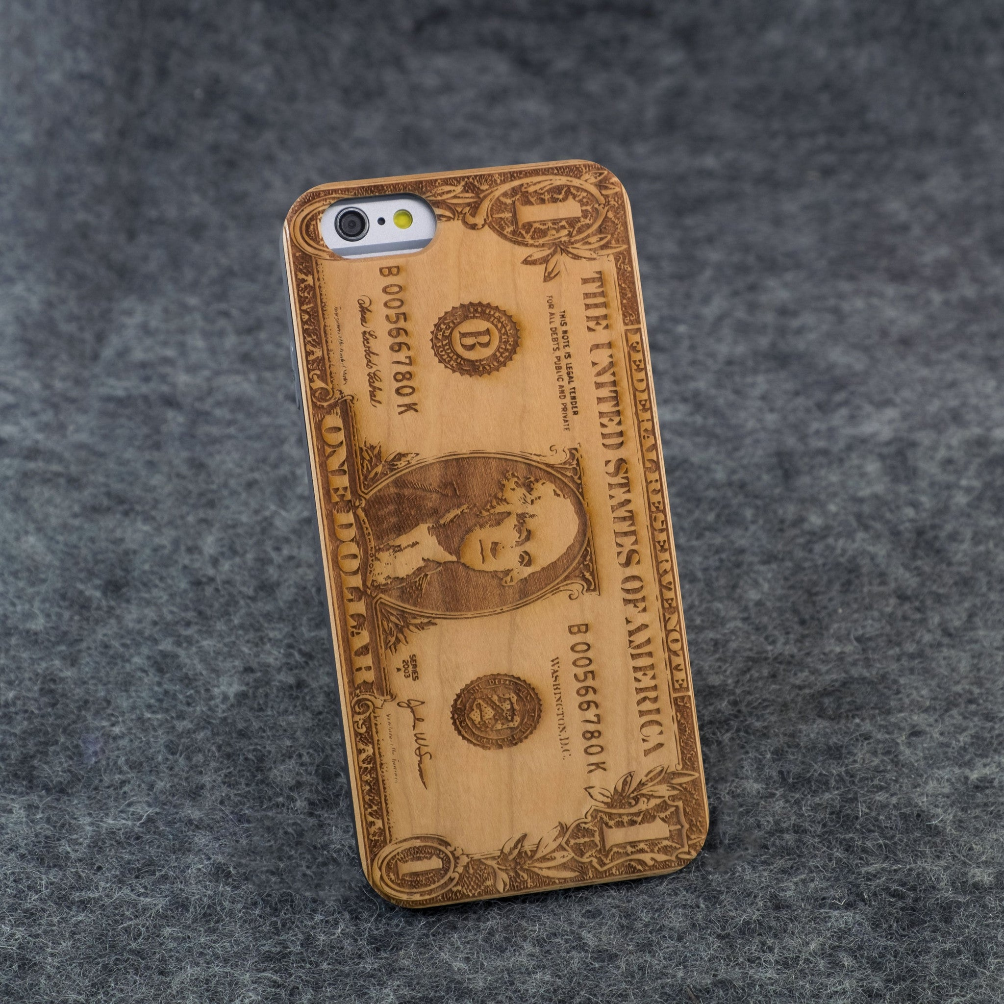 iPhone 6 / 6S Dollar Bill Slim Wood Case - NOLACASE