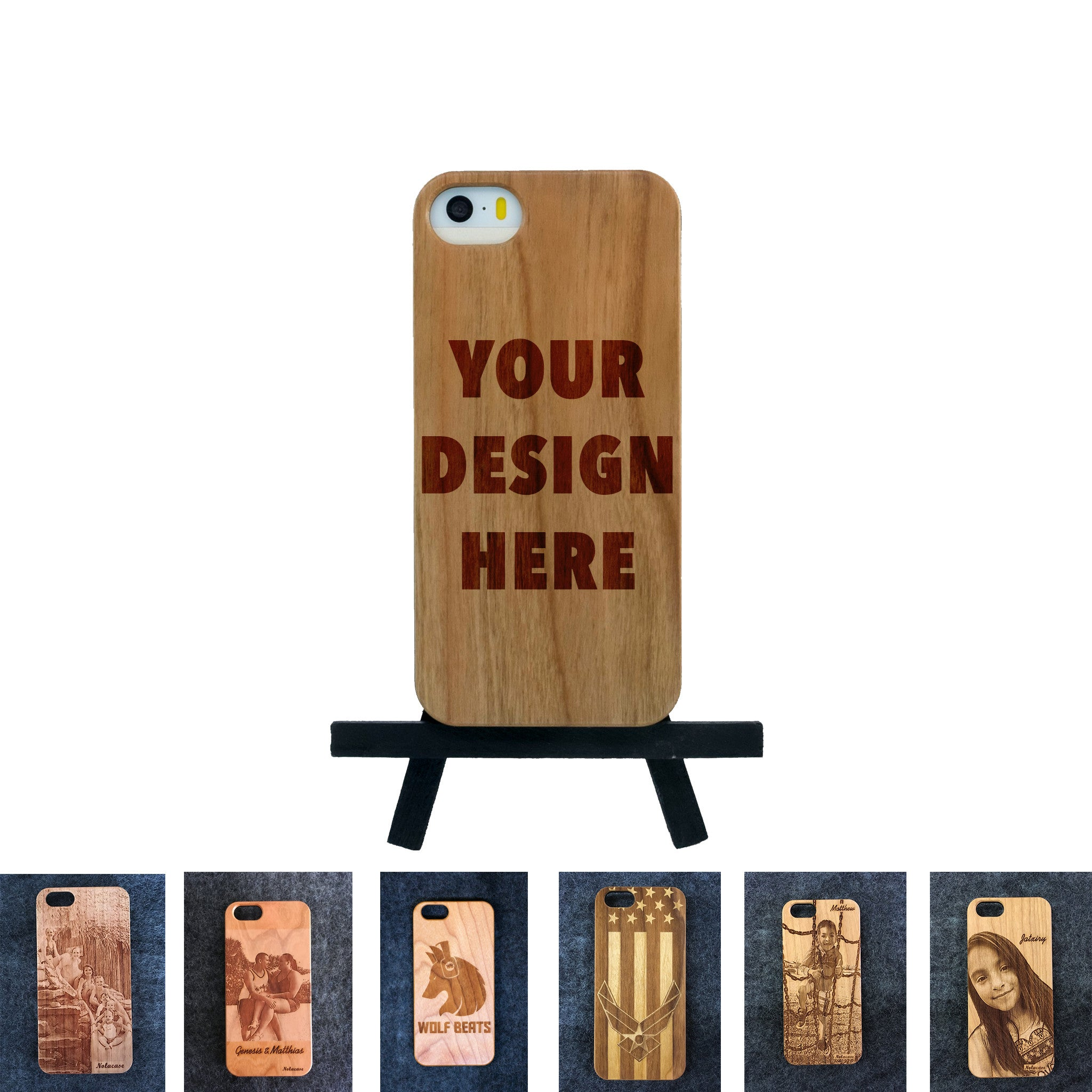 iPhone 5 / 5S Custom Slim Wood Case - NOLACASE - 1