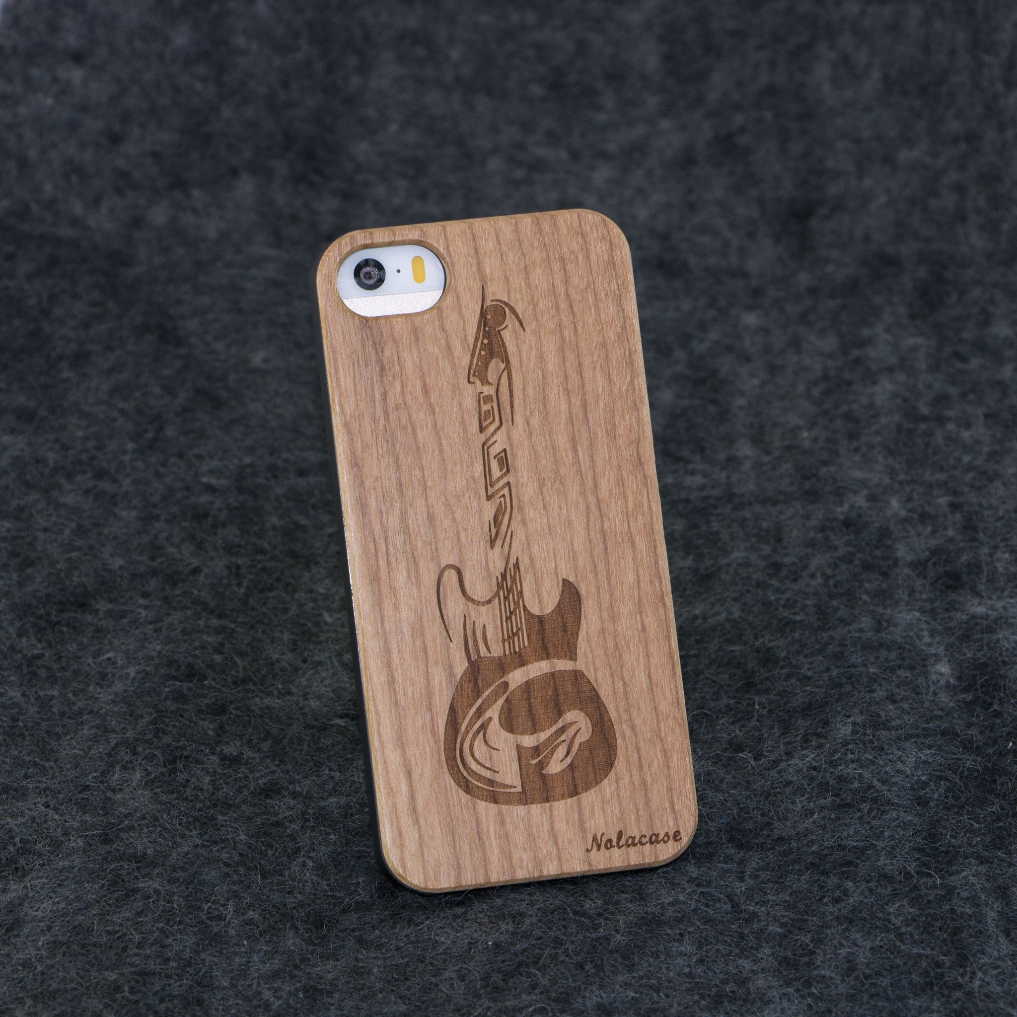 iPhone 5 / 5S Guitar Slim Wood Case - NOLACASE