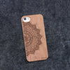 iPhone 5 / 5S Half Mandala Slim Wood Case - NOLACASE