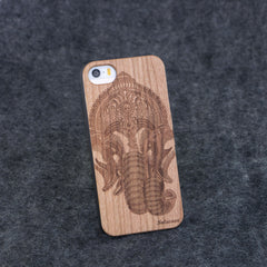 iPhone 5 / 5S Indian Elephant Head Slim Wood Case - NOLACASE