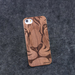 iPhone 5 / 5S Lion Face Slim Wood Case - NOLACASE
