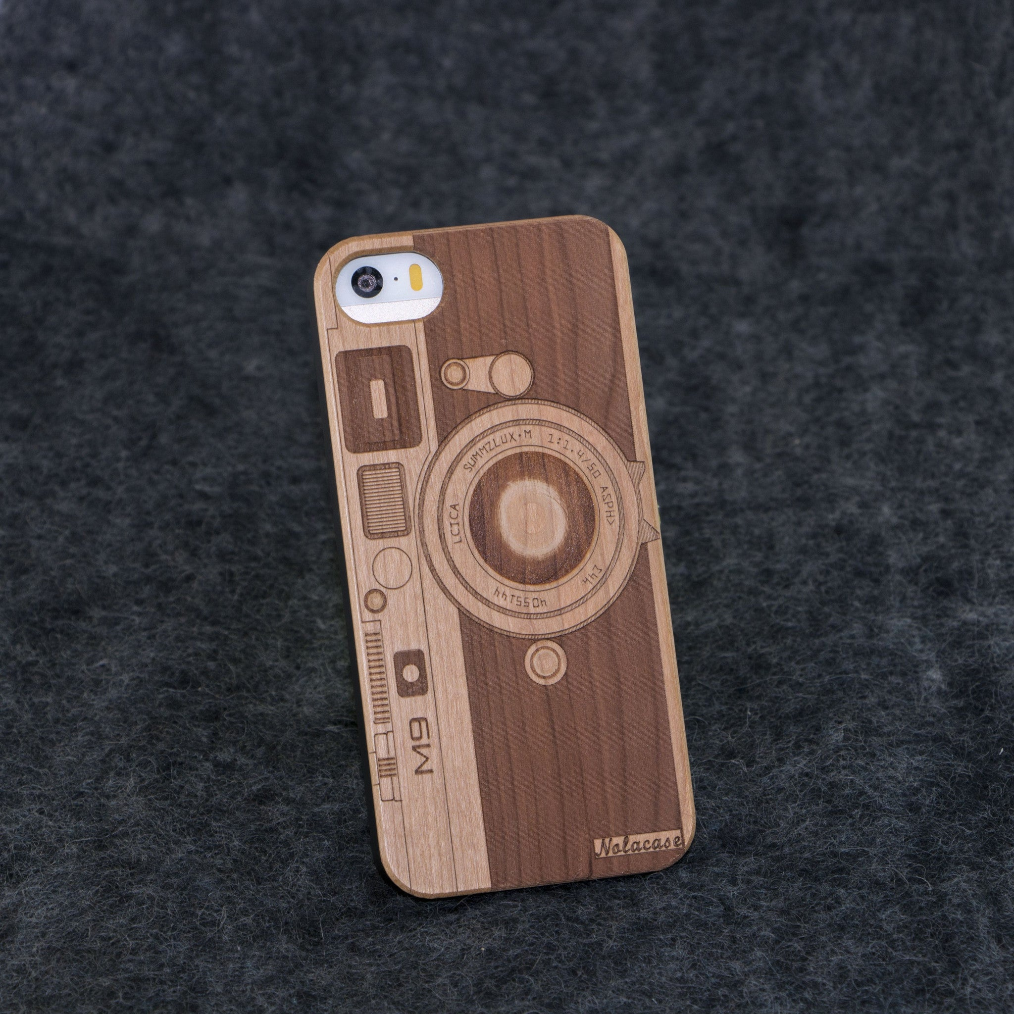 iPhone 5 / 5S M9 Camera Slim Wood Case - NOLACASE