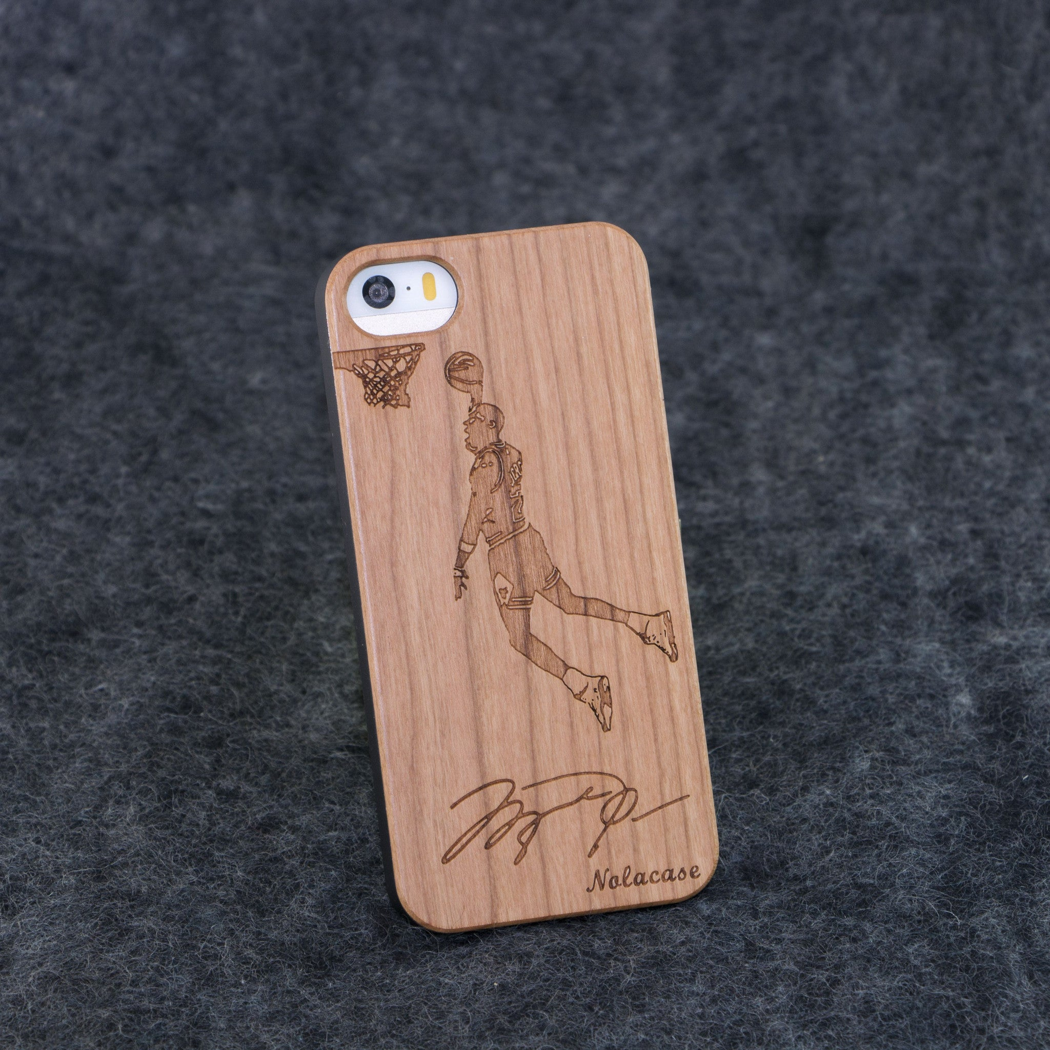 iPhone 5 / 5S Michael Jordan Signature Slim Wood Case - NOLACASE