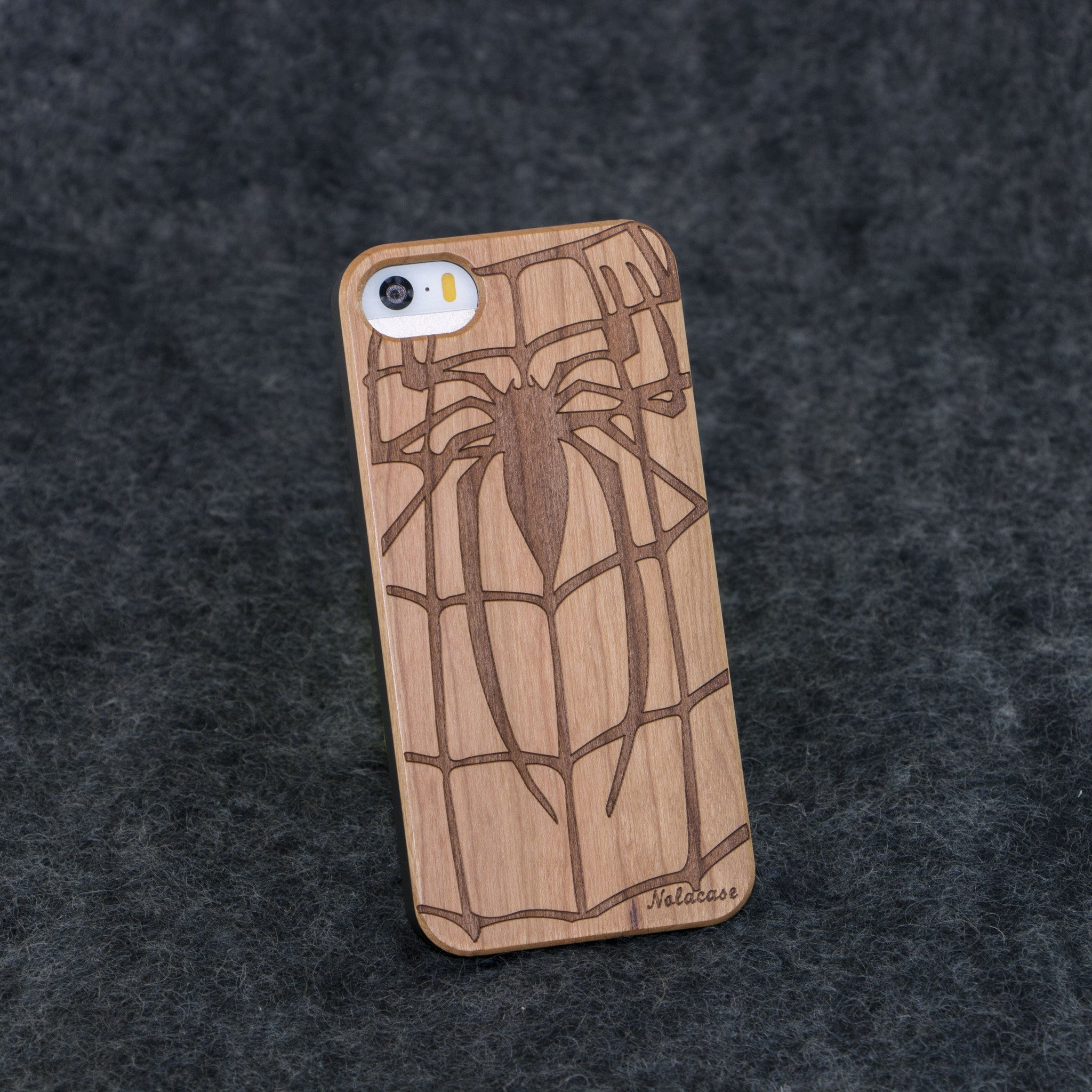 iPhone 5 / 5S Spider Slim Wood Case - NOLACASE