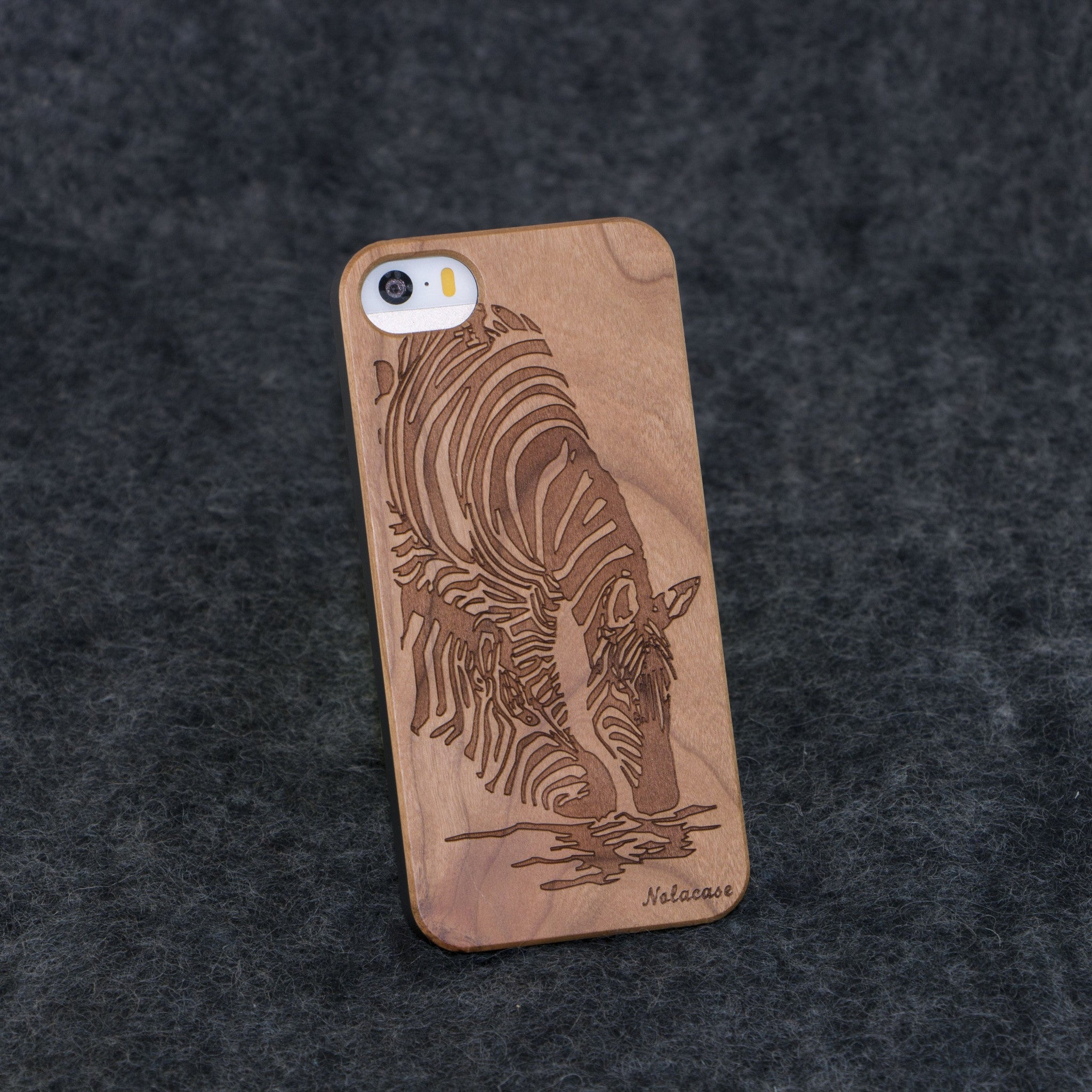 iPhone 5 / 5S Zebra Slim Wood Case - NOLACASE