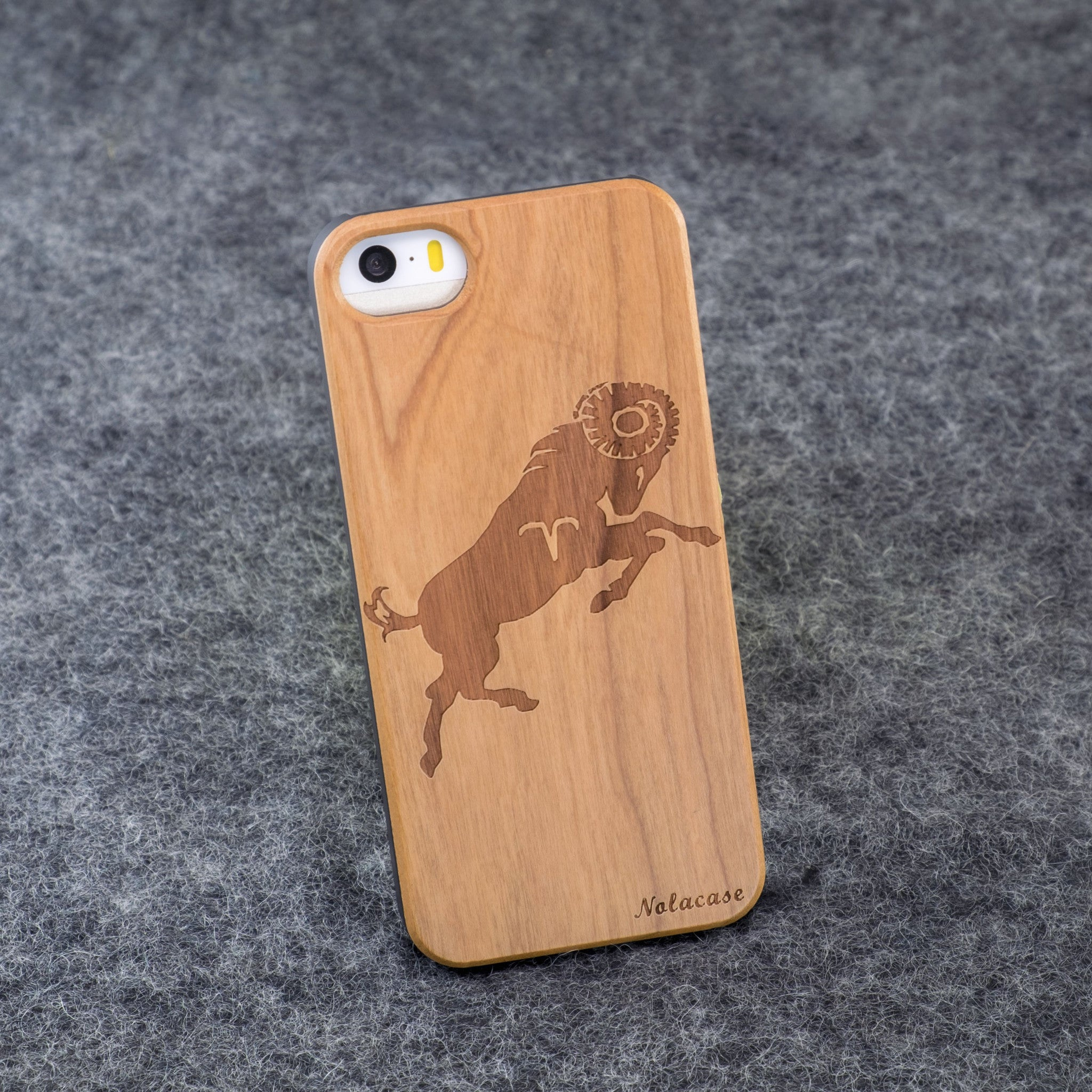 iPhone 5 / 5S Zodiac Signs: Aries Slim Wood Case - NOLACASE