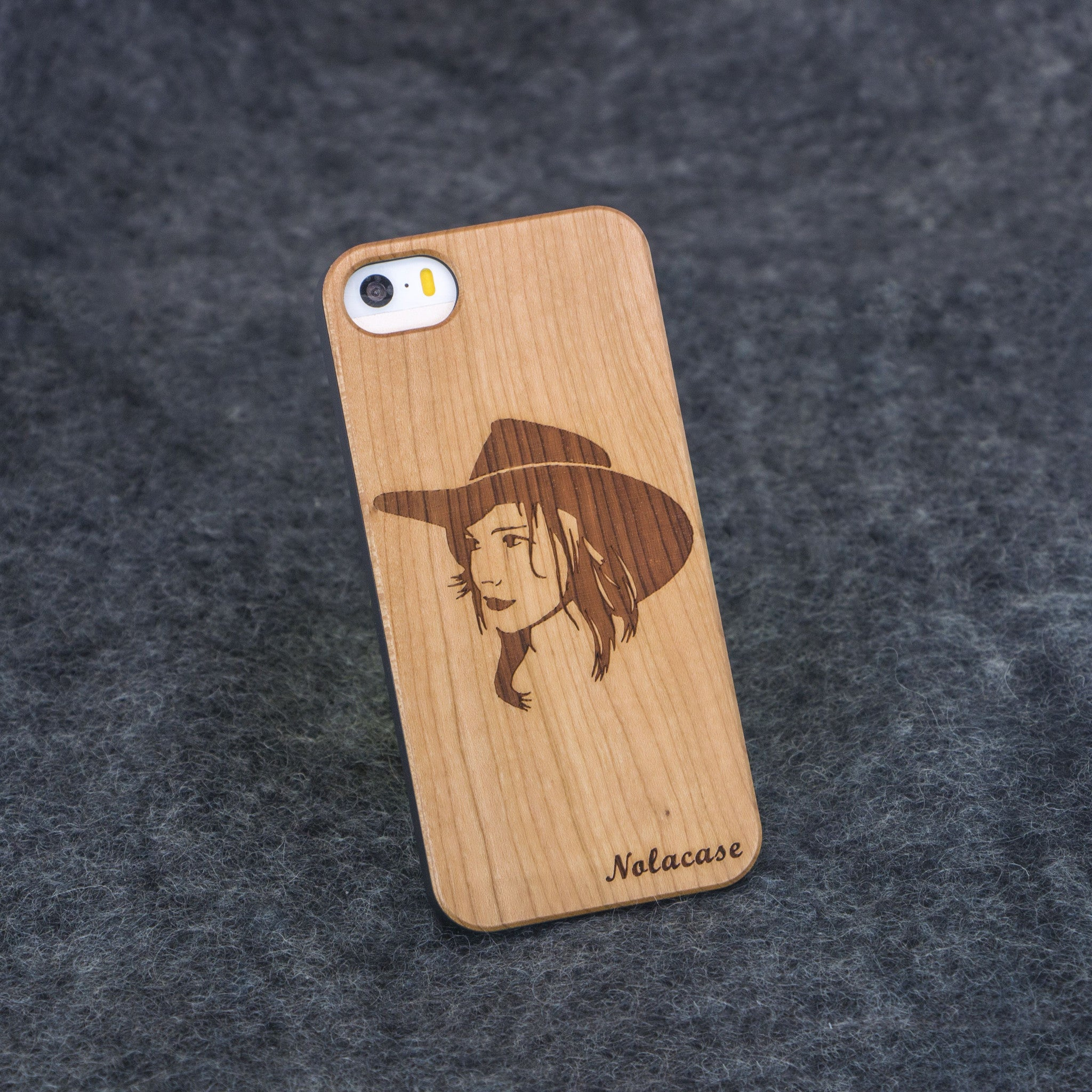 iPhone 5 / 5S Cowgirl Slim Wood Case - NOLACASE - 1