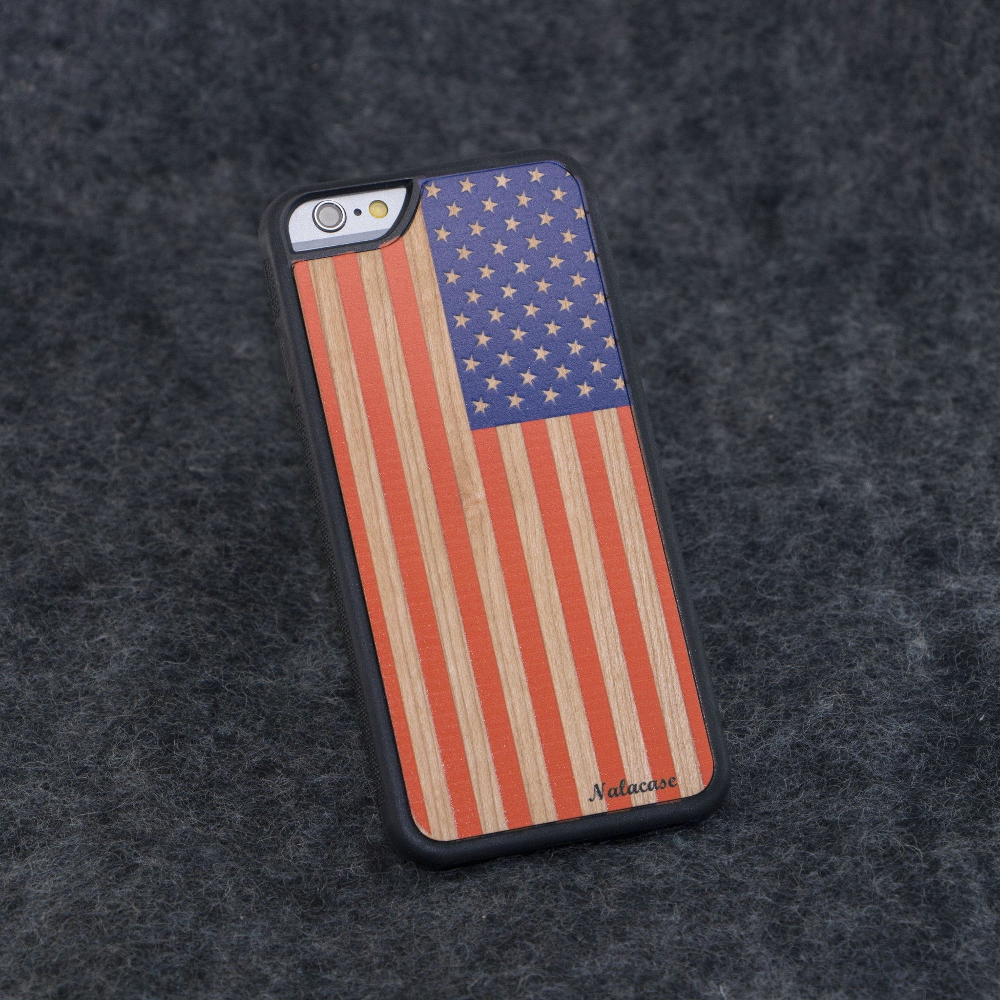 iPhone 6 / 6S USA Flag Color Slim Wood Case - NOLACASE