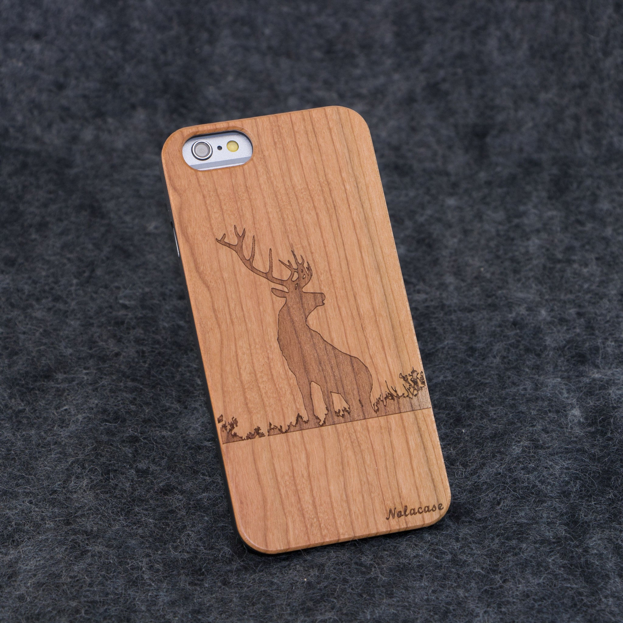 iPhone 6 / 6S Deer Slim Wood Case - NOLACASE