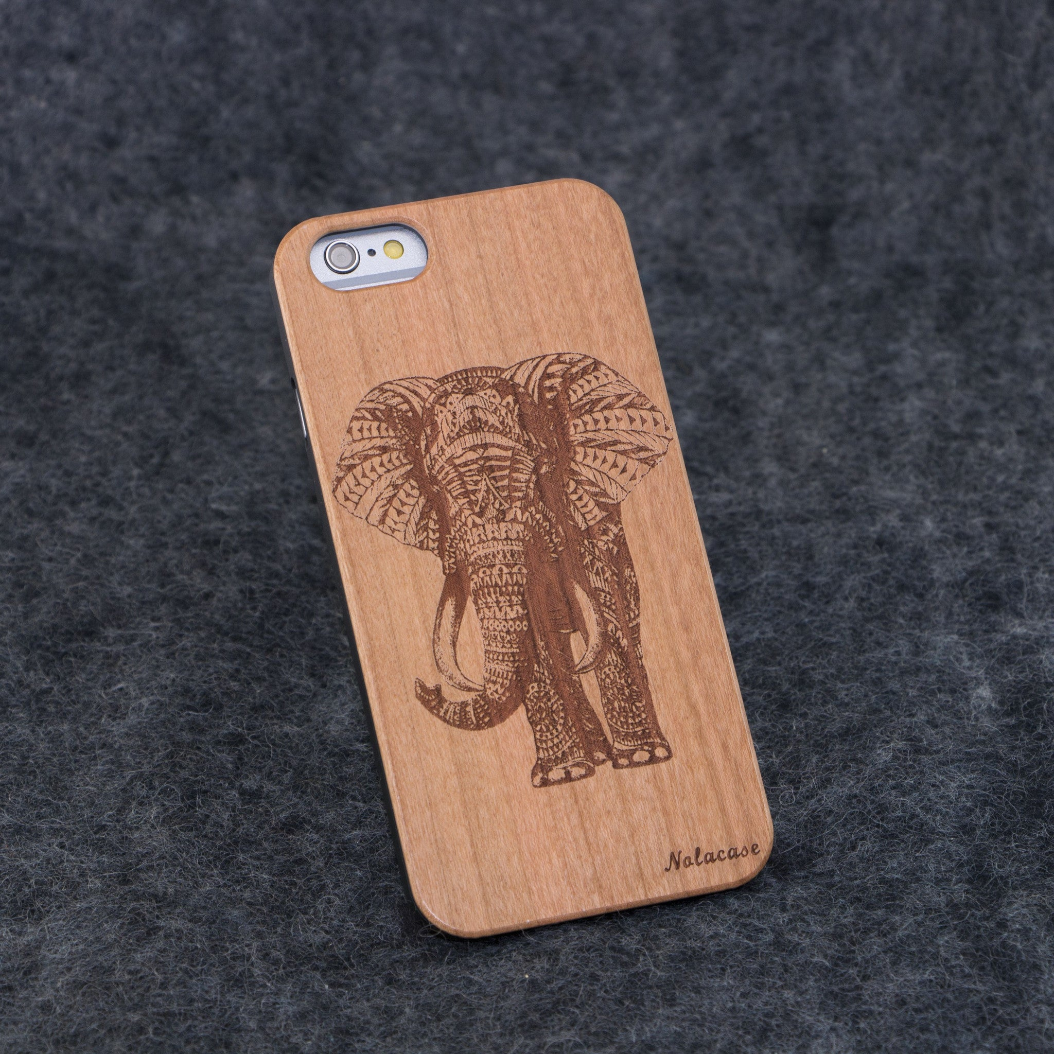 iPhone 6 / 6S Elephant Slim Wood Case - NOLACASE