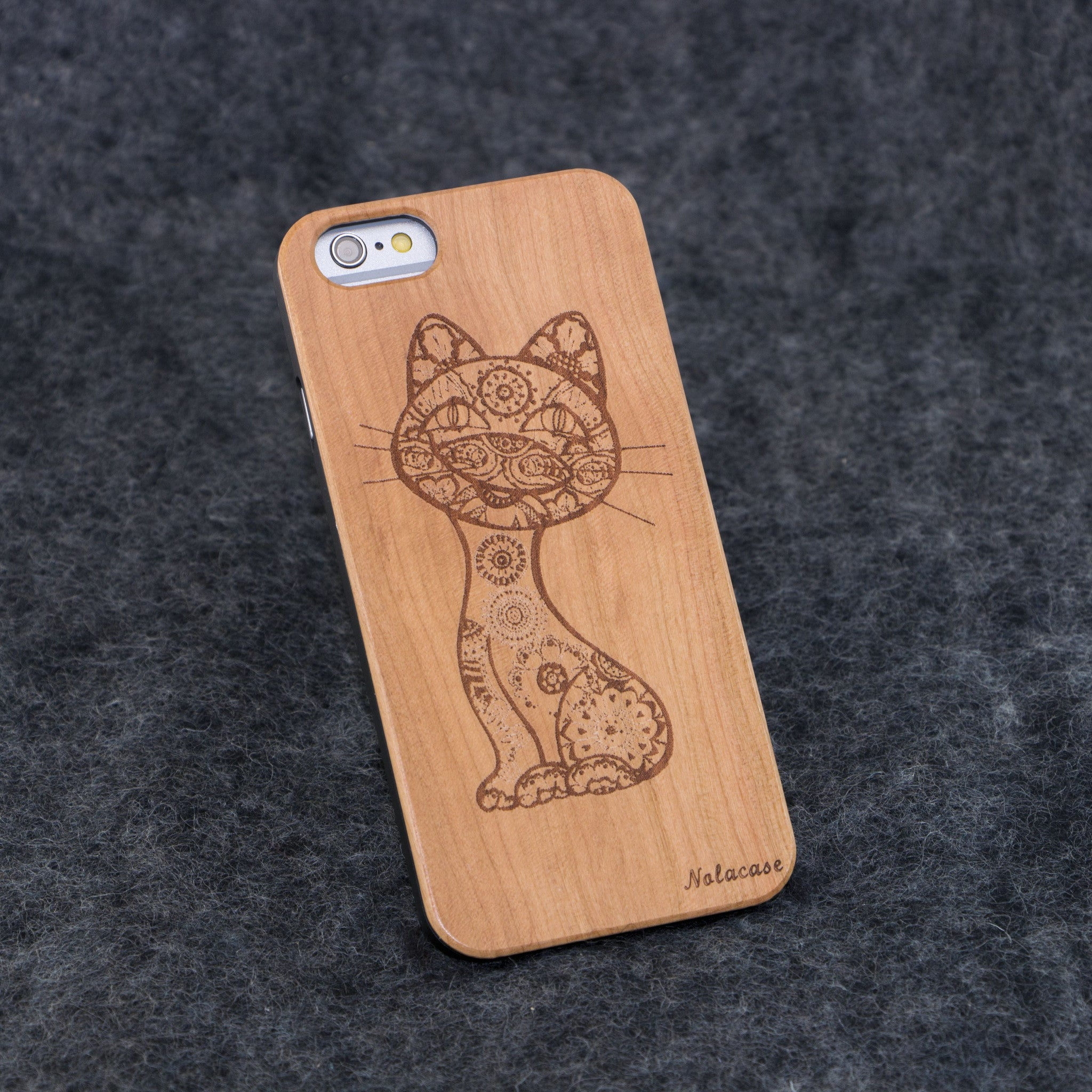 iPhone 6 / 6S Kitten Slim Wood Case - NOLACASE
