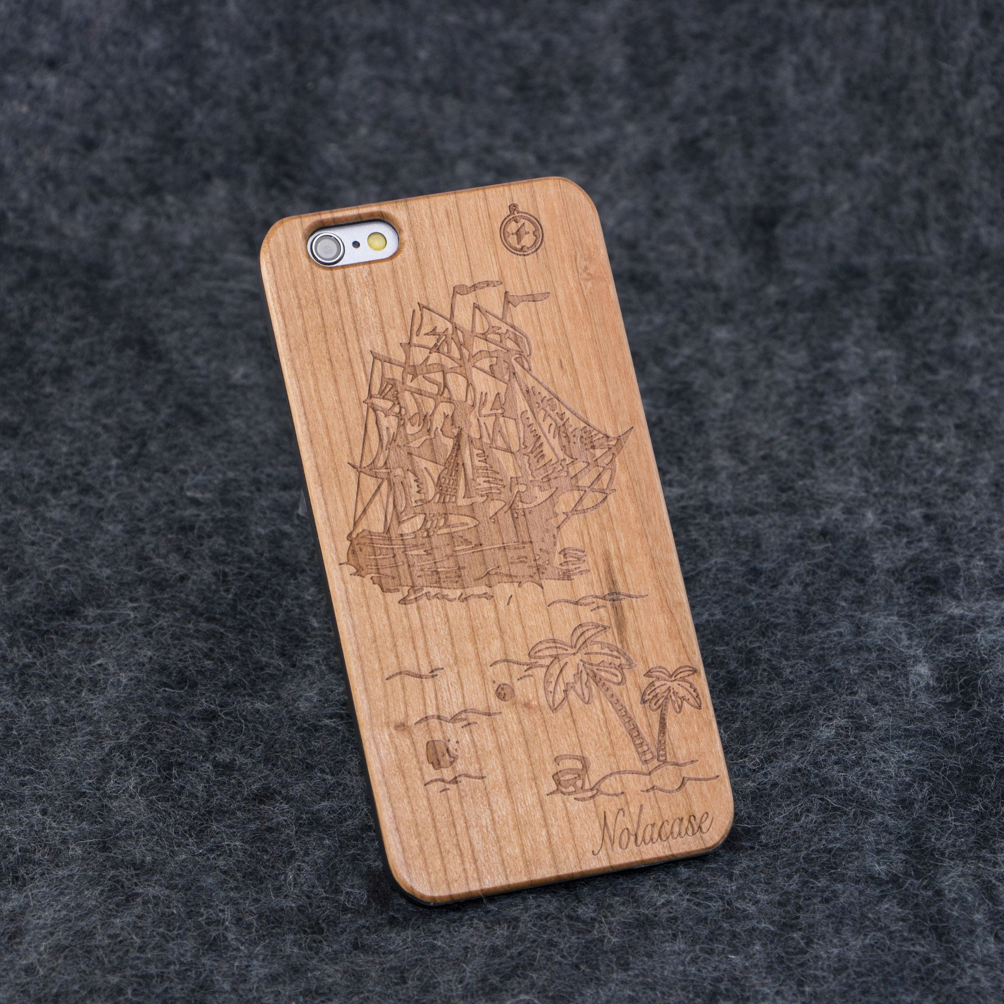 iPhone 6 / 6S Lost Island Slim Wood Case - NOLACASE