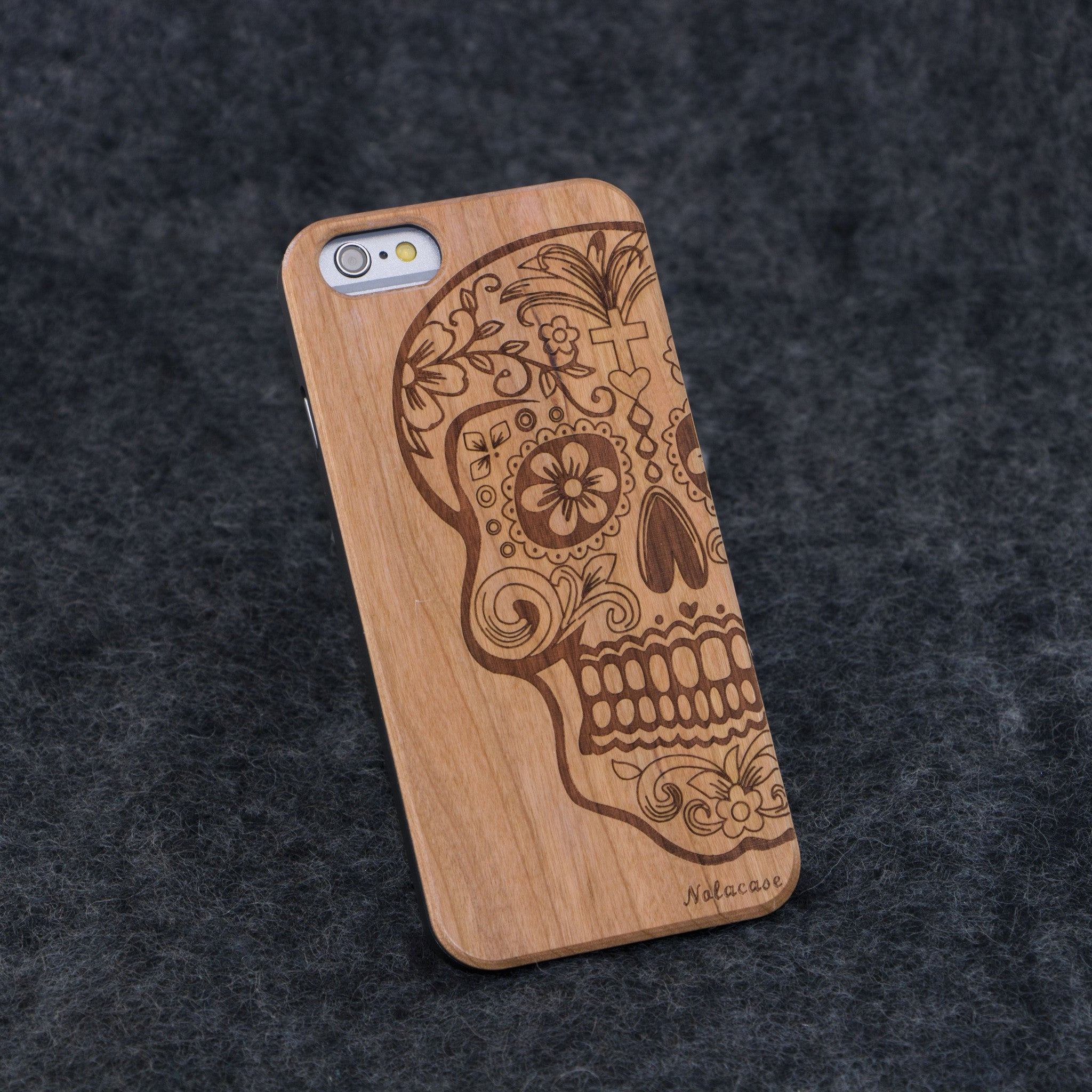 iPhone 6 / 6S Skull Christ Slim Wood Case - NOLACASE