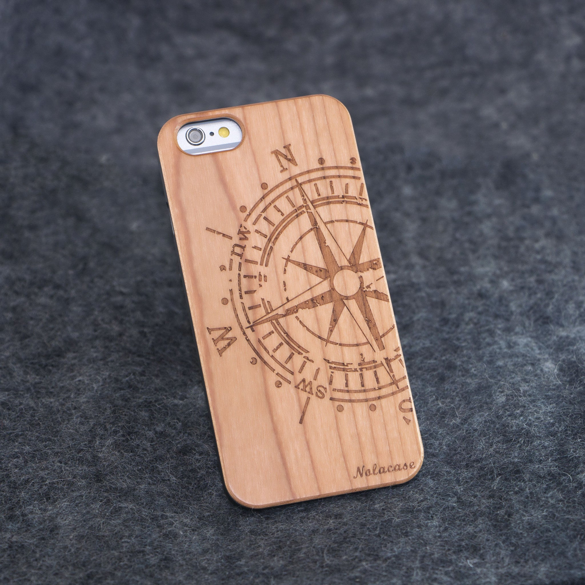 iPhone 6 / 6S Big Compass Slim Wood Case - NOLACASE