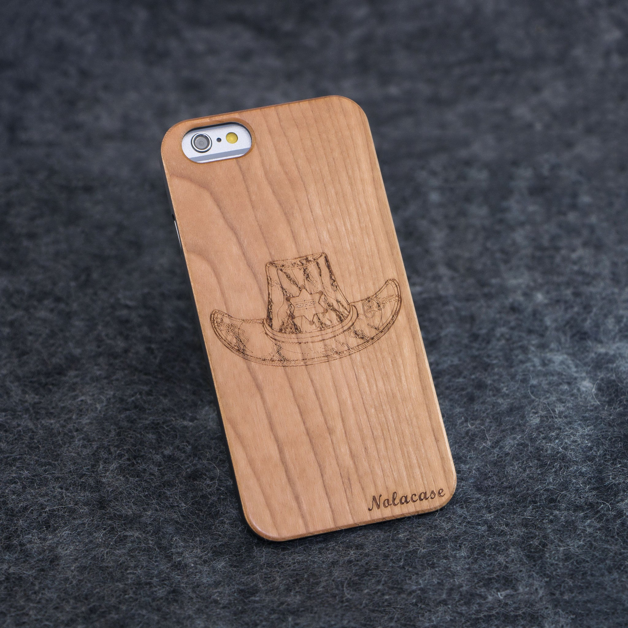 iPhone 6 / 6S Cowboy Hat Slim Wood Case - NOLACASE - 1