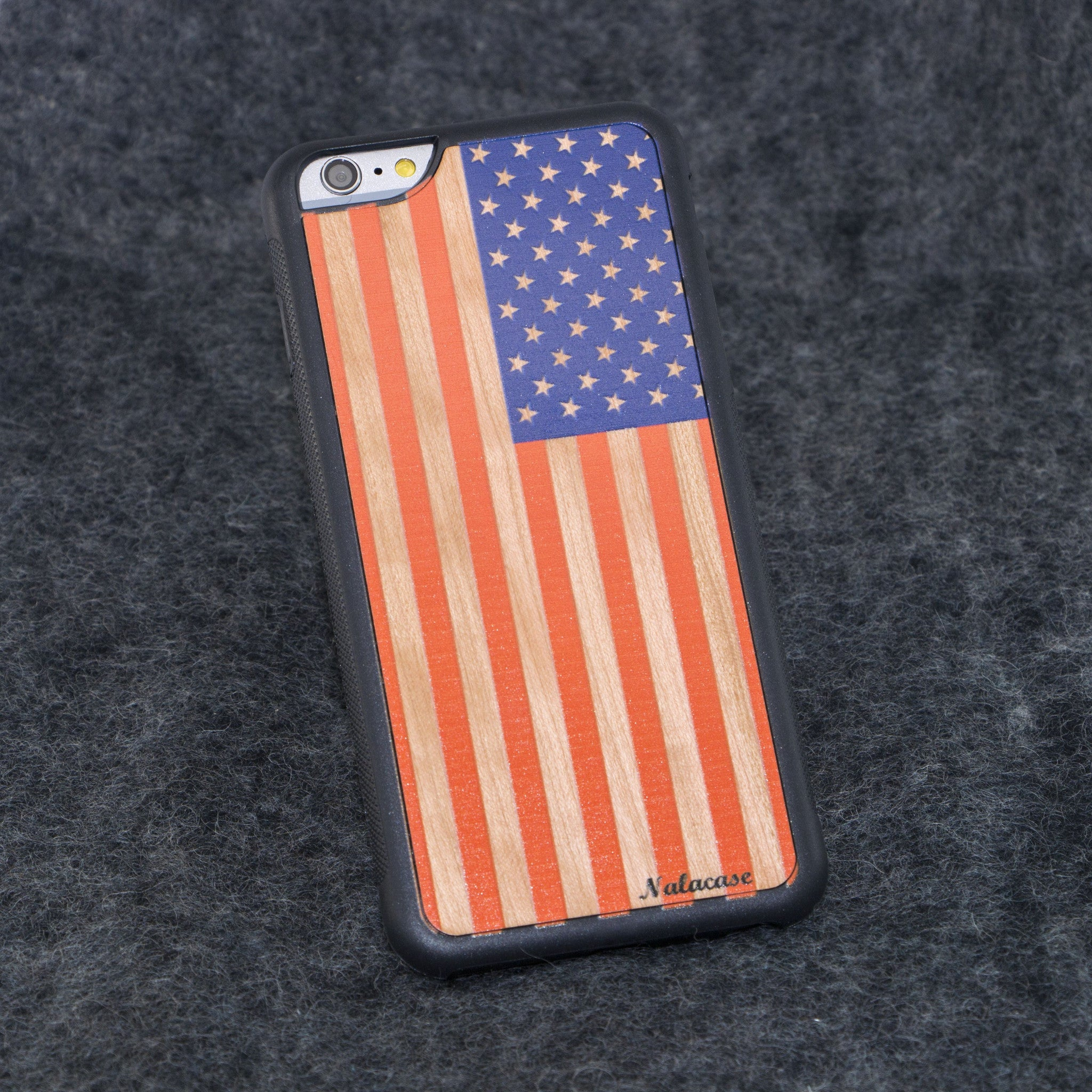 iPhone 6+ USA Flag Traveler Color Wood Case - NOLACASE