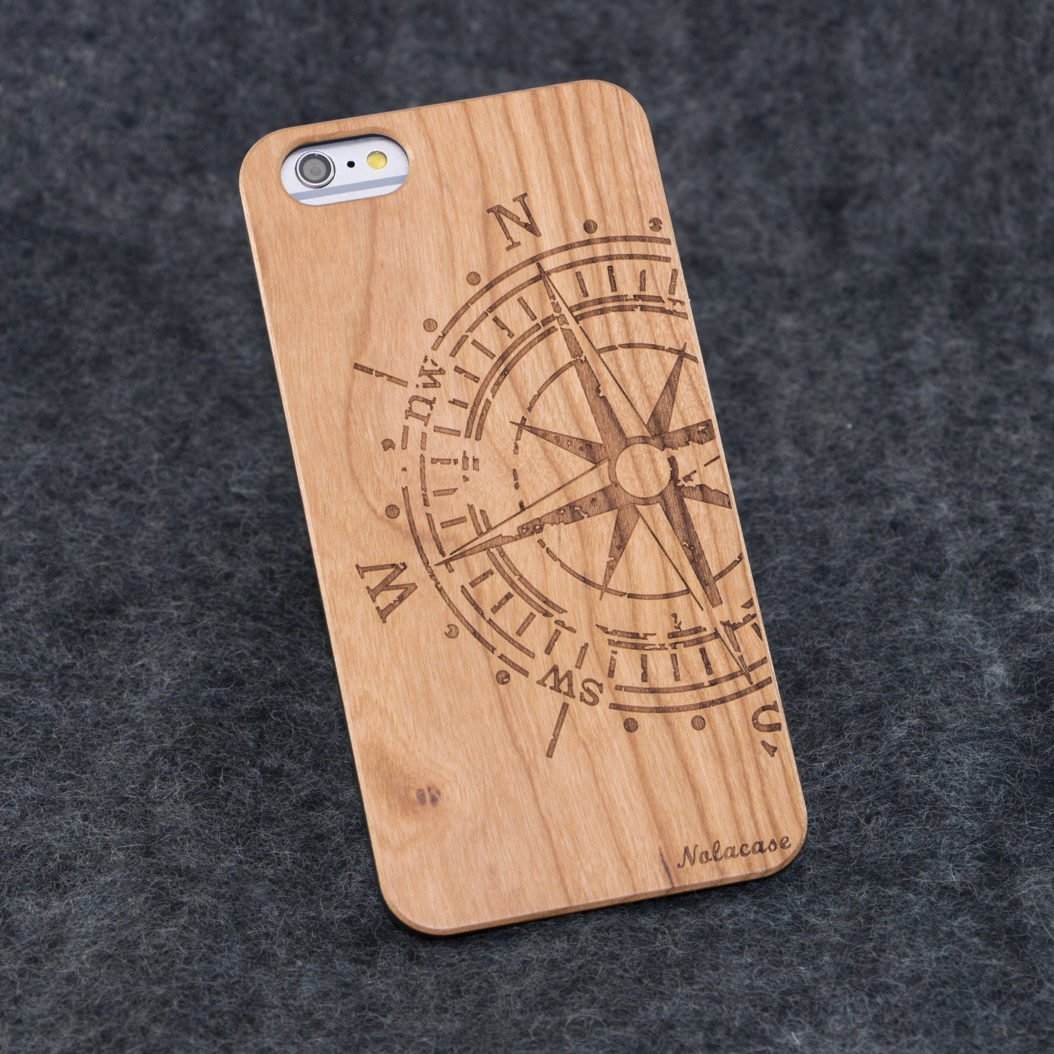 iPhone 6+ / 6S+ Big Compass Slim Wood Case - NOLACASE - 1