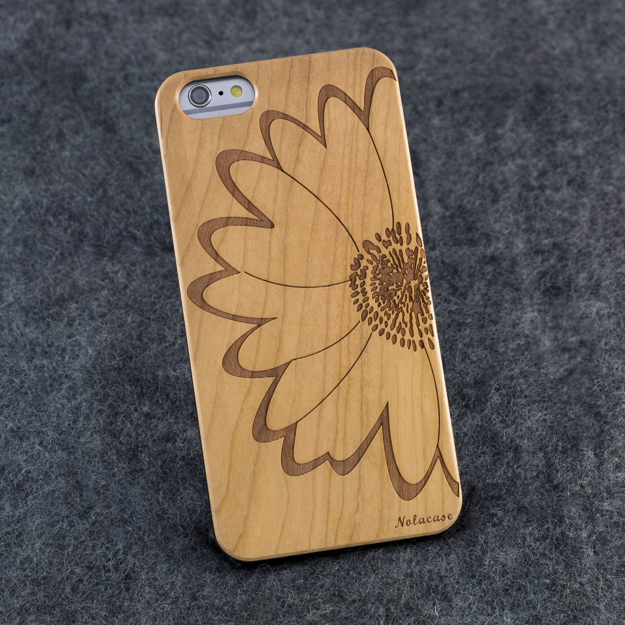 iPhone 6+ / 6S+ Big Flower Slim Wood Case - NOLACASE