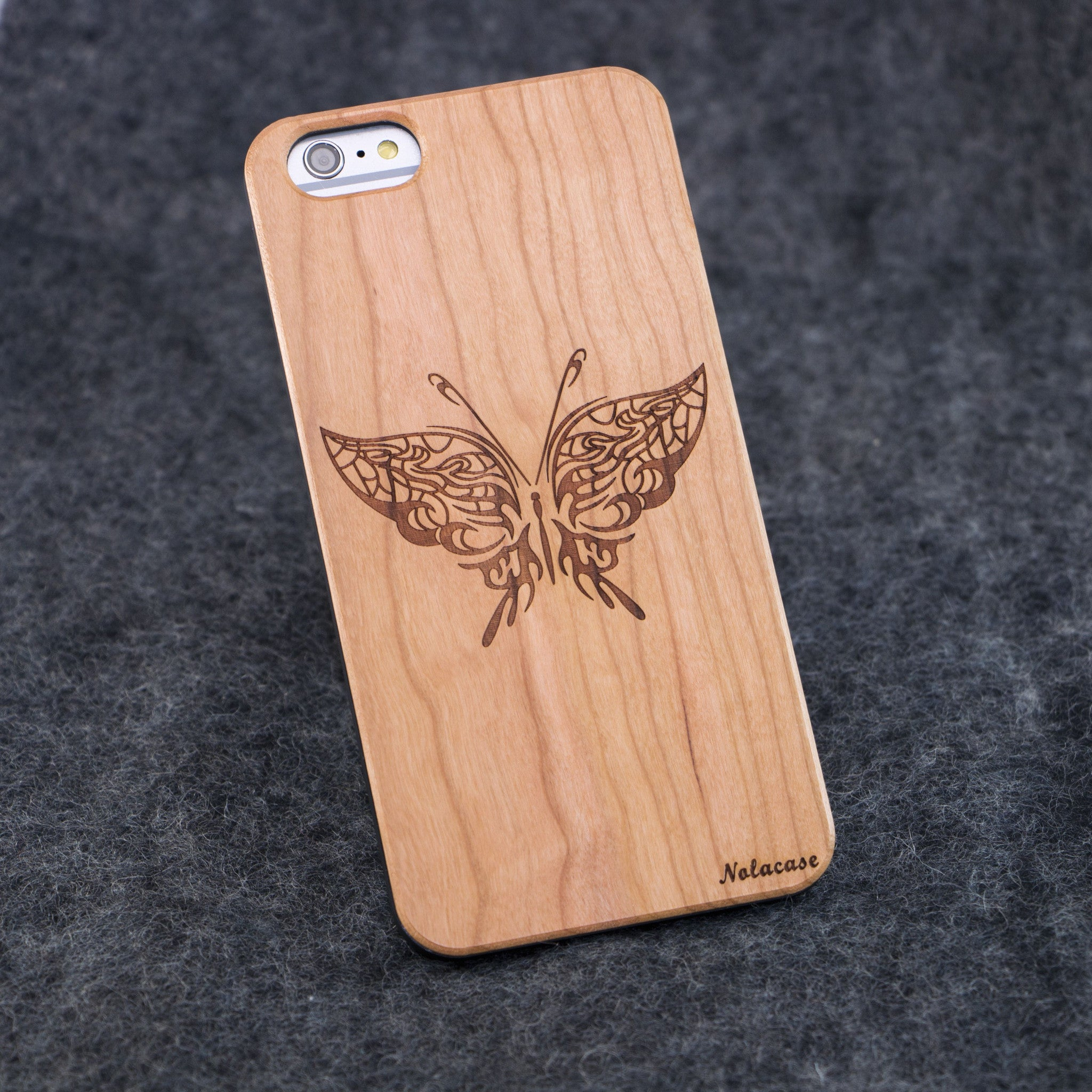 iPhone 6+ / 6S+ Butterfly Slim Wood Case - NOLACASE - 1